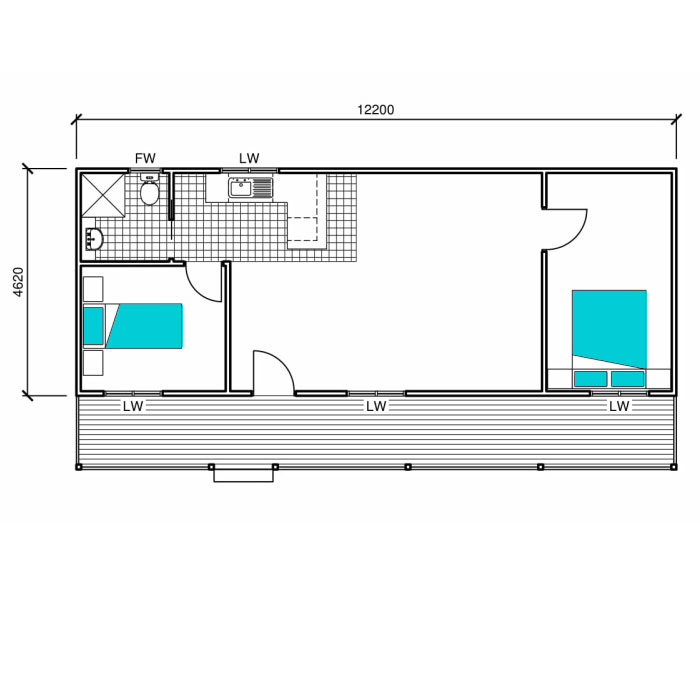 Two Bedroom Granny Flat